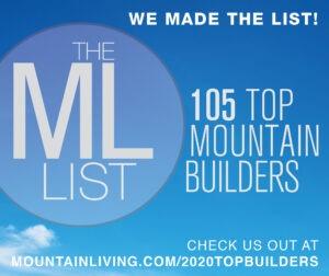 Mountain Living 2020 Top Builders List